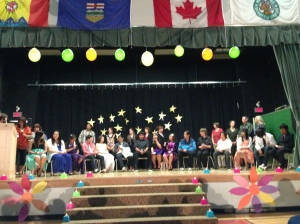 Grade 8 Grads and staff of Exshaw School