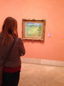 Enjoying art at the Thyssen Museum in Madrid