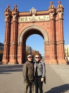 Hana and I in Barcelona a year ago