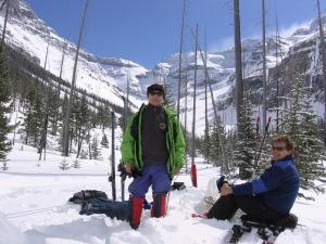 my favorite ski near Banff - Stanley Glacier